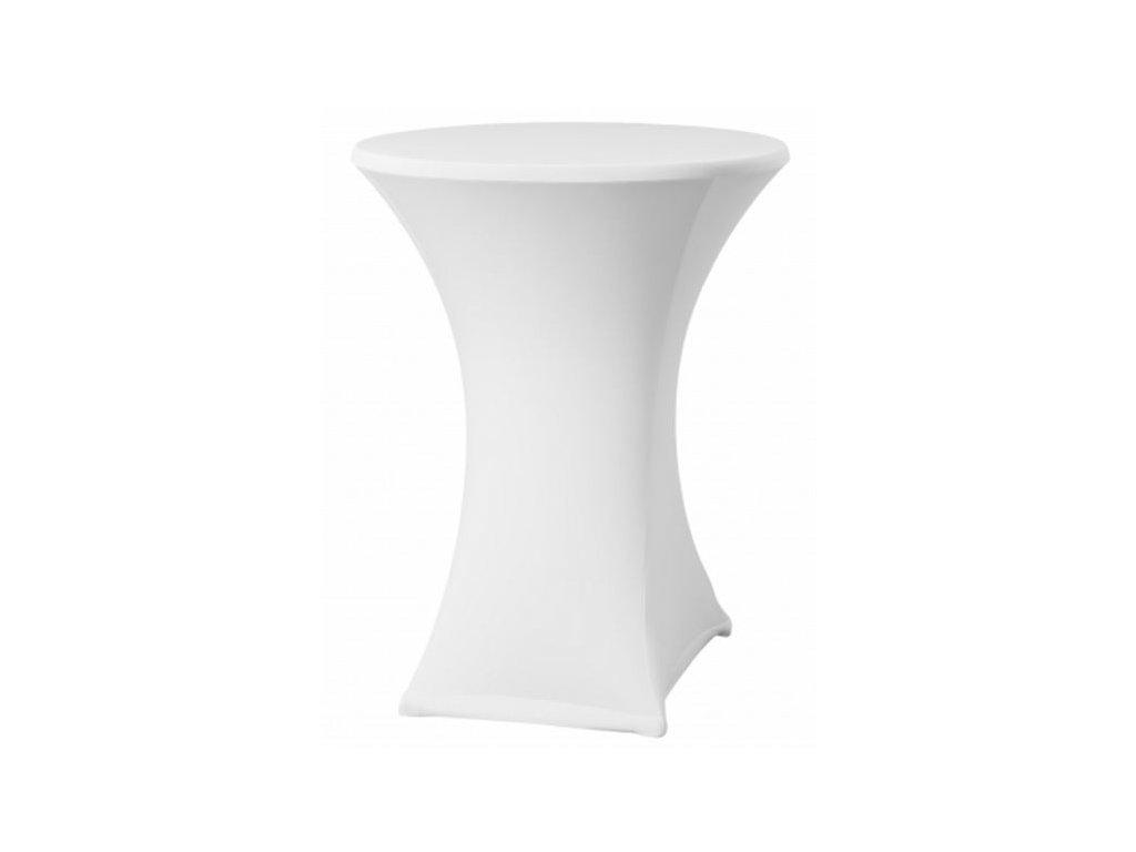 Elastický potah na koktejlový stůl bílý