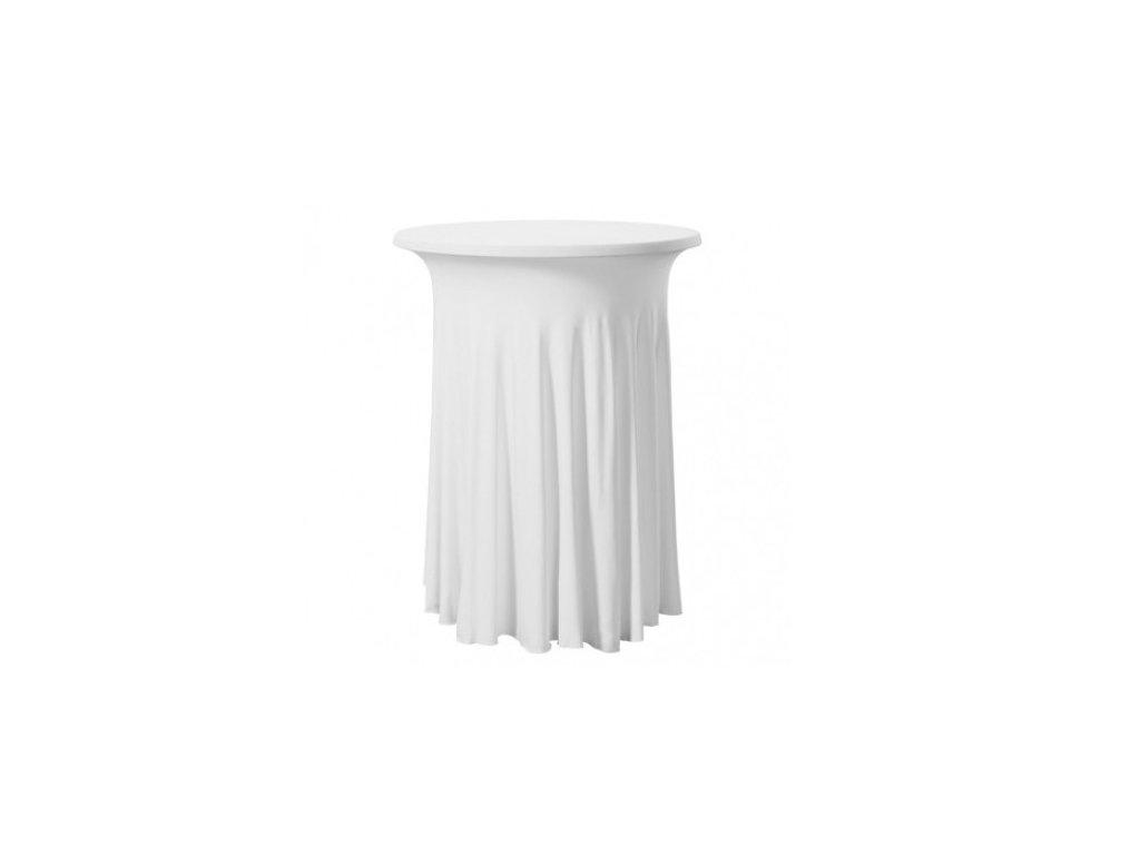 Elastický ubrus na koktejlový stůl, bílý