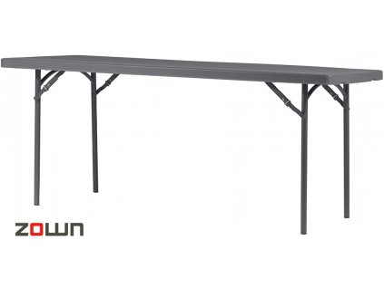 Cateringový stůl 183 x 76 cm tmavě šedý