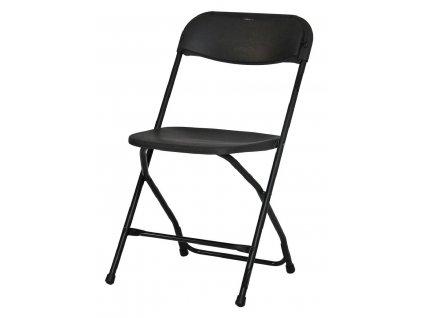 Skládací židle Alex černá