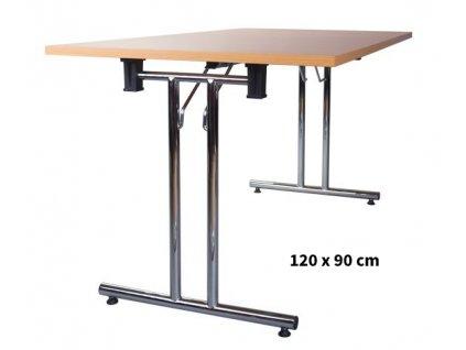 Skládací konferenční stůl 120x90 cm
