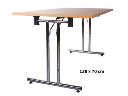 Skládací konferenční stůl 138x70 cm