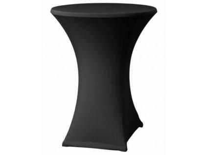 Černý potah na koktejlový stůl o průměru 70 cm