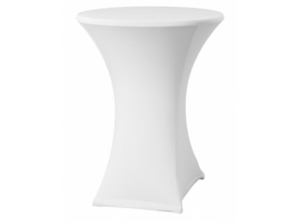 Bílý potah na koktejlový stůl o průměru 70 cm