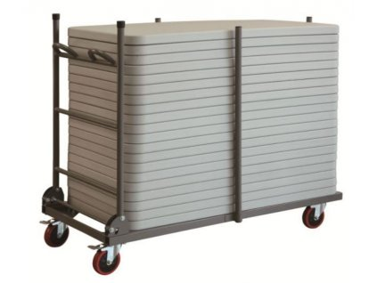 Transportní vozík pro plastové stoly 120 x 60 cm