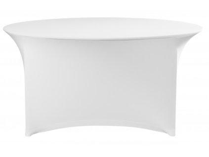 Elastický potah na kulatý stůl 150 cm, bílý