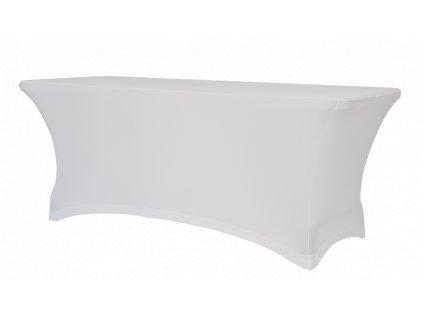 Elastický návlek na stůl, bílý