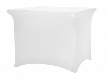 Strečový potah na čtvercový stůl, bílý