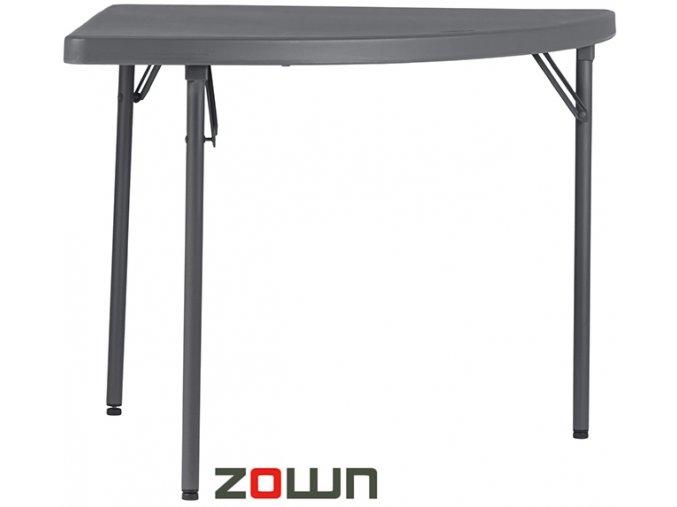 Skládací stůl čtvrtkruh 91 cm