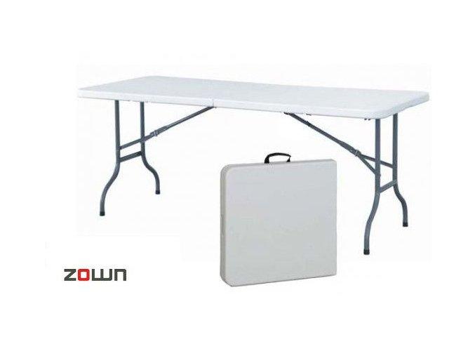Cateringový stůl 183 x 76 cm s půlenou deskou