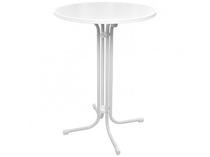 Skládací koktejlový stůl bílý