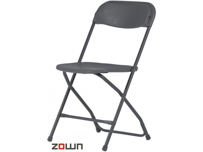 Skládací židle Alex tmavě šedá