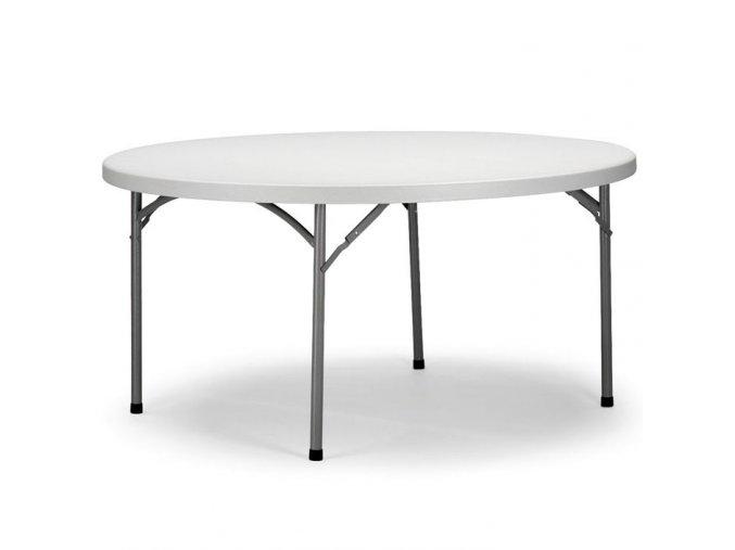 Skládací stůl kulatý 150 cm