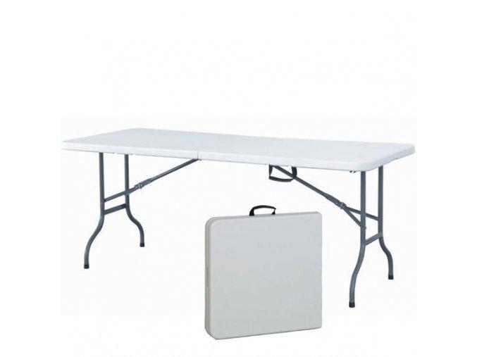 Obdélníkový stůl 162 x 71 cm s půlenou deskou