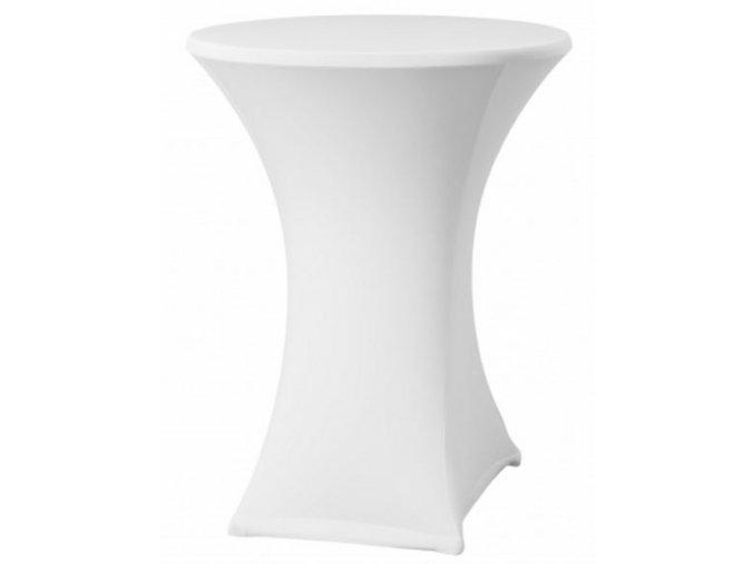 Strečový potah na koktejlový stůl bílý