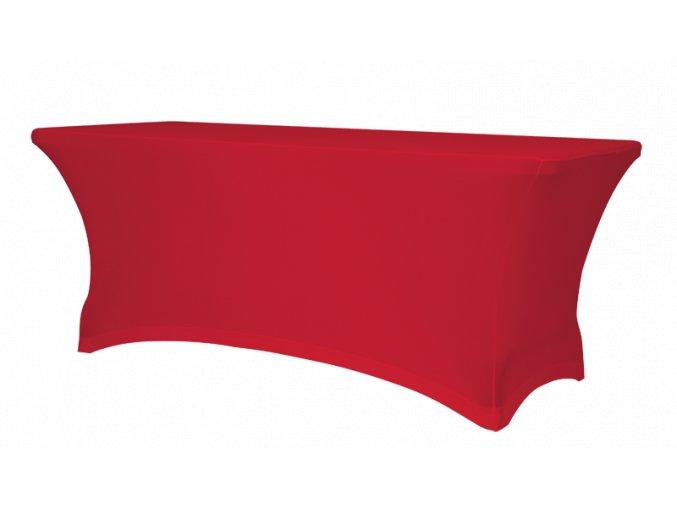 Strečový potah na stůl, červený