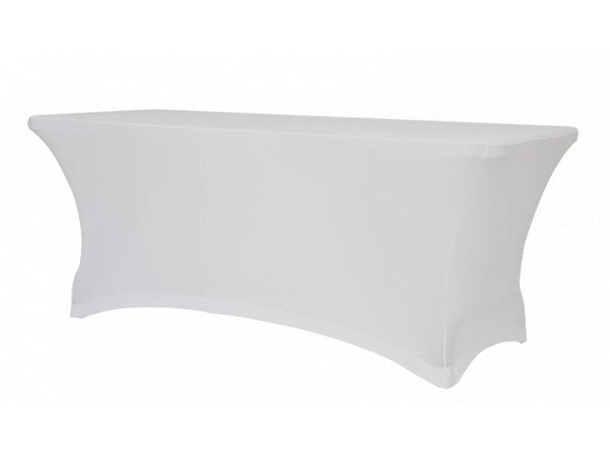 Strečový potah bílý na stůl 183 x 76