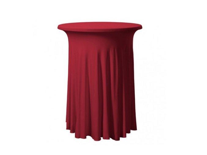 Elastický ubrus na koktejlový stůl, bordó