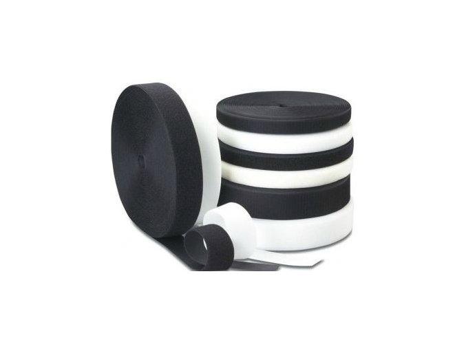Samolepící suchý zip - HÁČKY (Barva černá)
