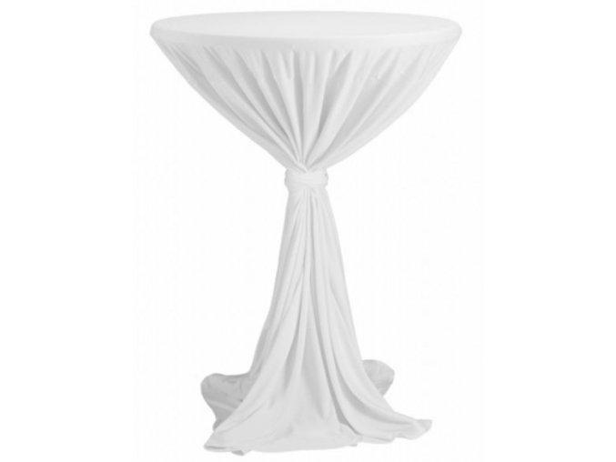 Ubrus na koktejlový stůl bílý