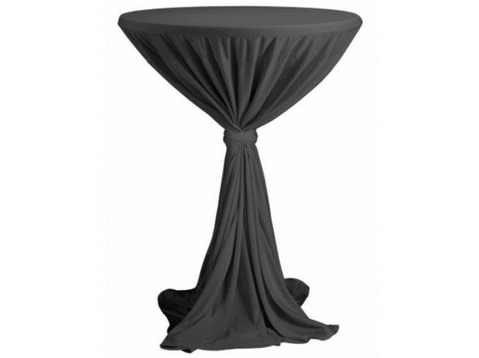 Ubrus na koktejlový stůl antracit