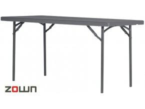 Cateringový stůl 152 x 76 cm tmavě šedý