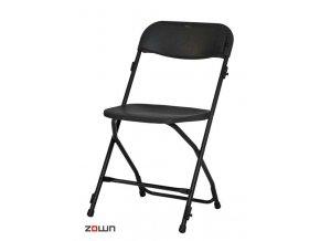 Skládací židle Alex řadovací černá
