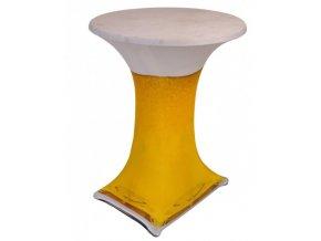 Elastický potah na koktejlový stůl s motivem pivní sklenice