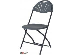 Skládací židle Alexandra tmavě šedá