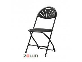 Skládací židle Alexandra černá