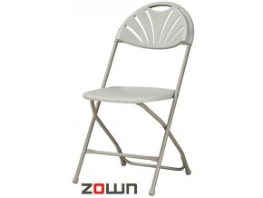 Skládací židle Alexandra světle šedá