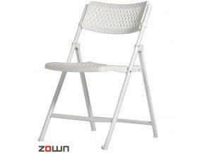 Skládací židle Aran bílá