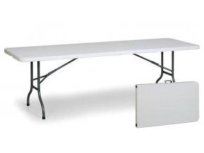 Stůl 244 x 76 cm, půlená deska