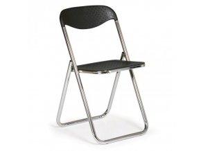 Skládací plastová židle Sára černá