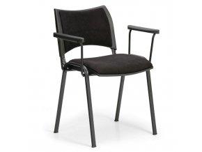 Konferenční židle SMART s područkami, černá