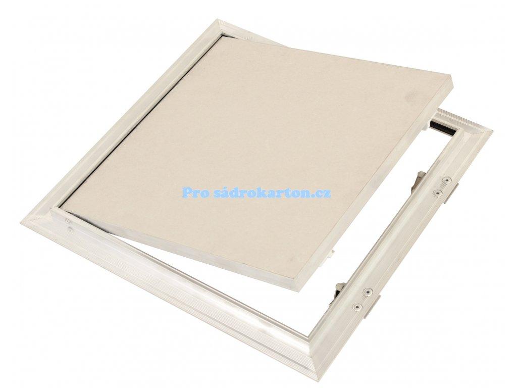 Revizní dvířka prachotěsná se sádrokartonovou deskou 12.5 GKB tlačný zámek model US (Velikost 600x600)