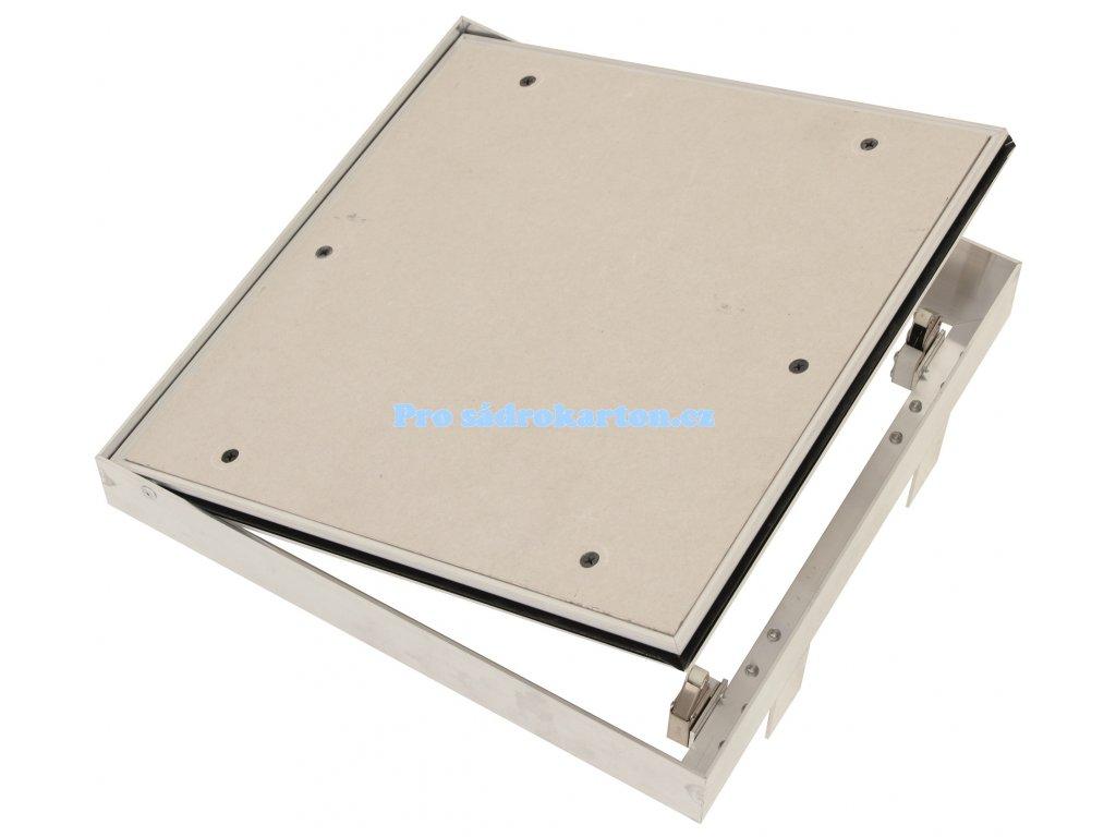 Revizní dvířka prachotěsná se sadrokartonem 12.5 GKB do zdiva s tlačným zámekem typu US (Velikost 600x600)