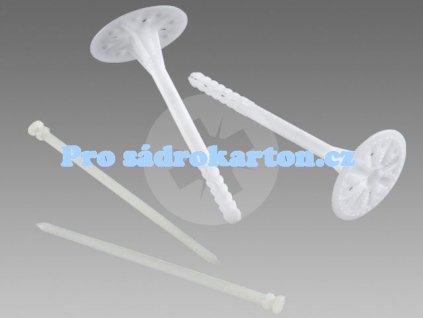 TH-LTX fasádní talířová hmoždinka plastový trn /Wkret-met (Balení 100 ks, Velikost 10x260)