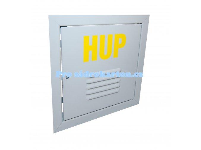 Revizní dvířka HUP-plechová bílý pozinkovaný plech