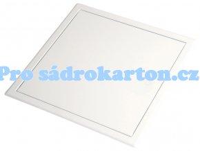 Revizní dvířka Softline plechová bílá tlačný zámek typ US (Velikost 600x600)