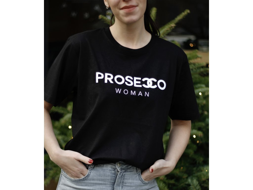 TRIČKO PROSECCO WOMAN / BLACK - S
