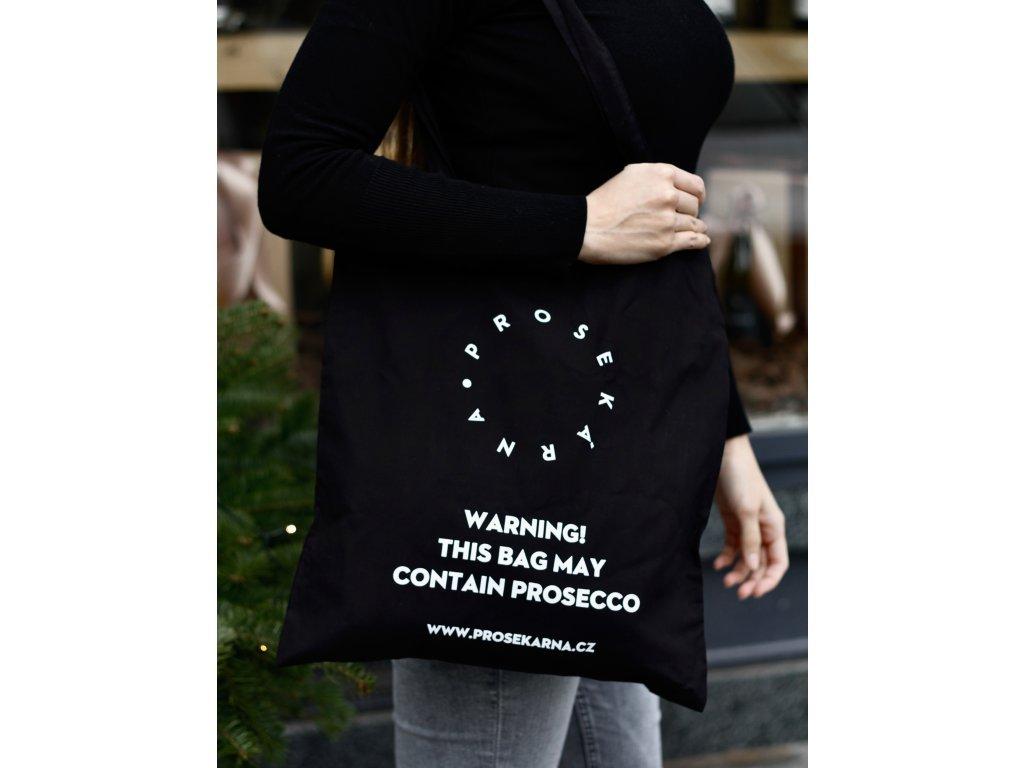 PLÁTENÁ TAŠKA THIS BAG MAY CONTAIN PROSECCO