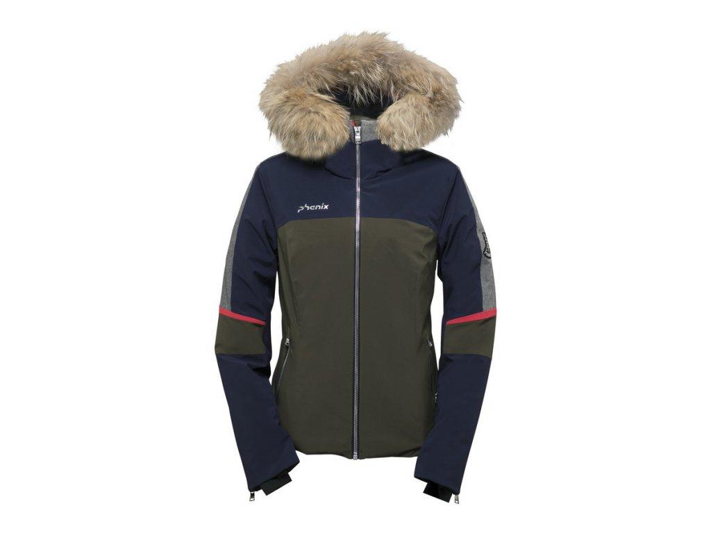 Dámská lyžařská péřová bunda Phenix Chloe Hybrid Down Jacket s kožešinou