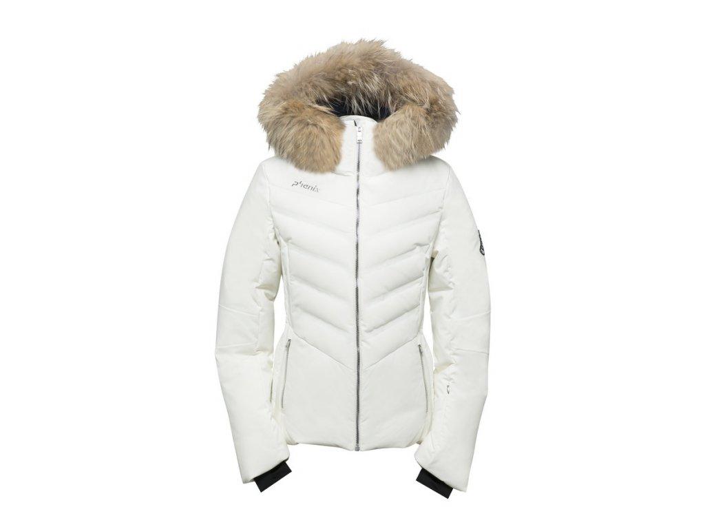 Dámská membránová lyžařská bunda Phenix Chloe Hybrid Down Jacket s kožešinou