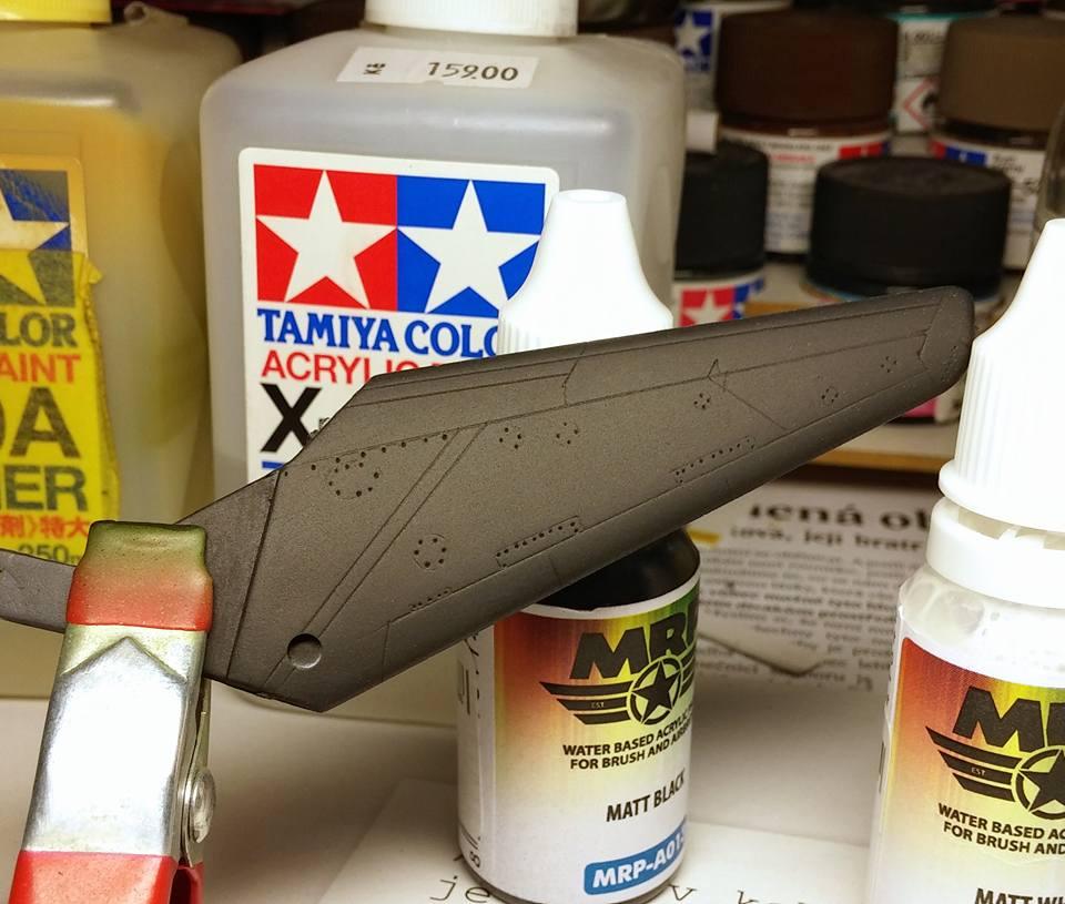 Barvy MR. Paint Aqua - aplikace airbrushem