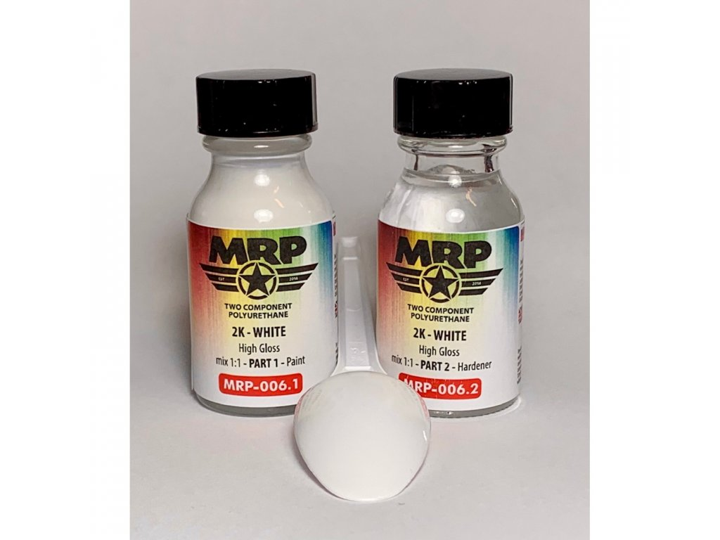 MRP-006 2K – WHITE – High Gloss – 2 x 15ml