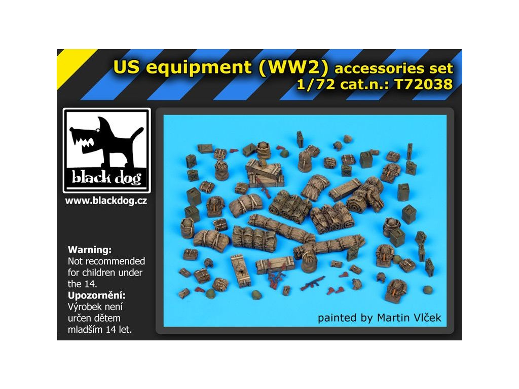US WW II equipment accessories set 1:72