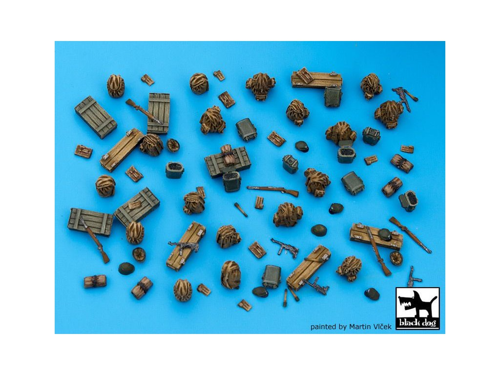 German WWII equipment accessories set 1:72