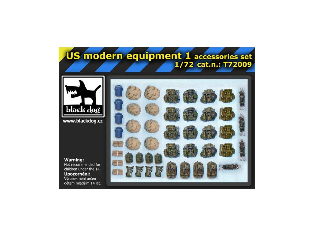US modern equipment accessory set 1 1:72