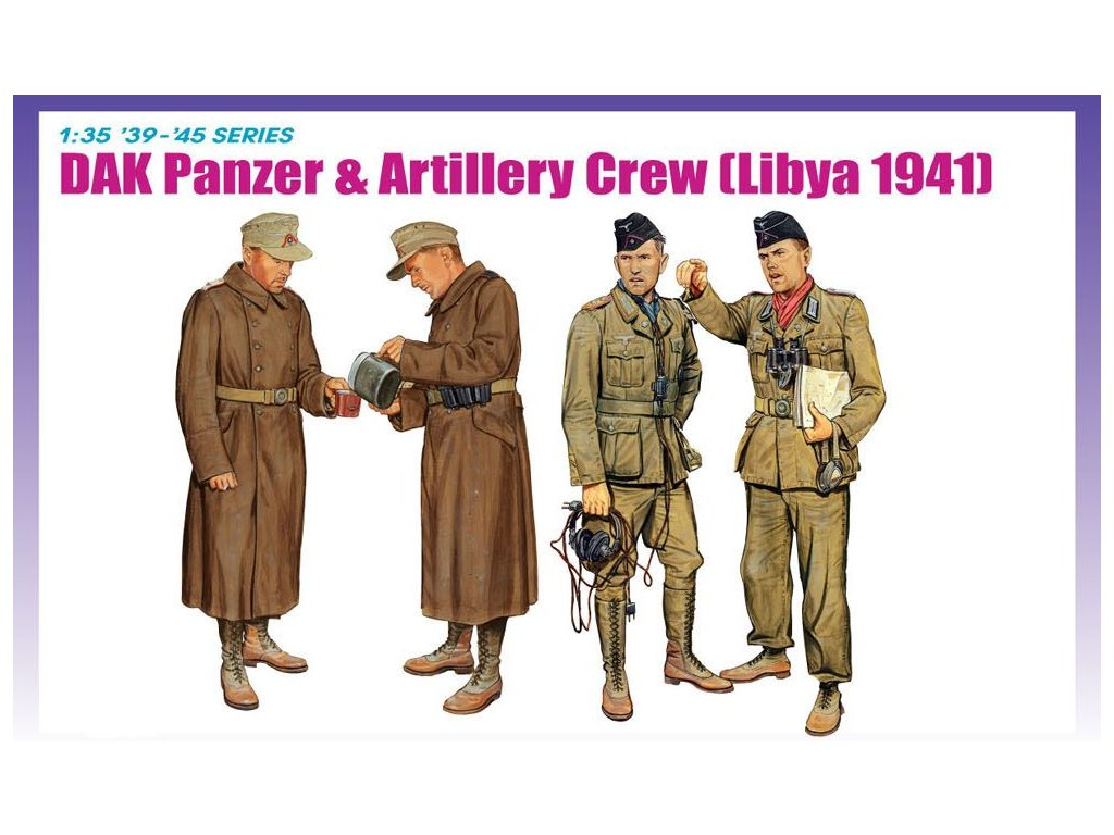 DAK Panzer & Artillery Crew, Libya 1941 1:35